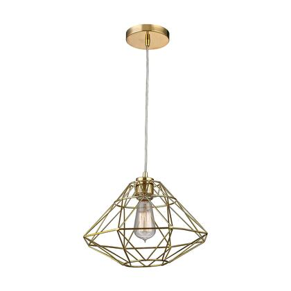 Paradigm Collection D2963 9 inch  Pendant Light with 1 Bulb Capacity  E26 Bulb Type  Indoor Lighting and Metal Construction in Gold