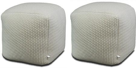 AL10013 Pouf Square Ottoman With Adult Seating In