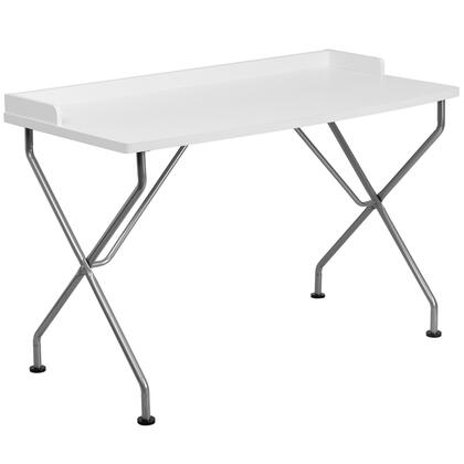 NAN-JN-2116-WH-GG White Computer Desk with Silver