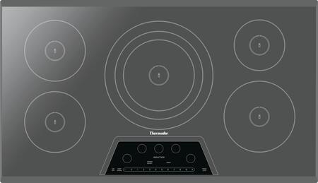 "CIT365KM 37"" Masterpiece Series Smoothtop Electric Induction Cooktop With 5 Elements Anti-Overflow System Speed Heating Keep Warm Function Touch Control"