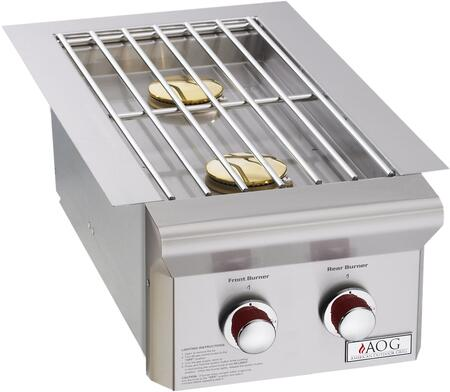 3282PT Double Side Burner With Two 12500 BTU  Stainless Steel Rod Grid  and Stainless Steel