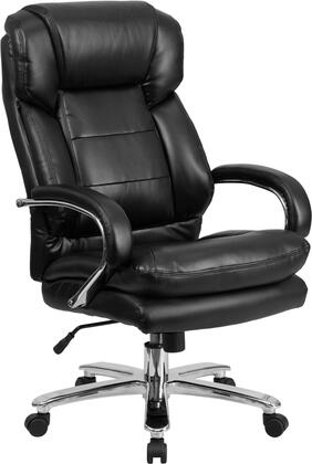 GO-2078-LEA-GG HERCULES Series 24/7 Intensive Use  Multi-Shift  Big & Tall 500 lb. Capacity Black Leather Executive Swivel Chair with Loop