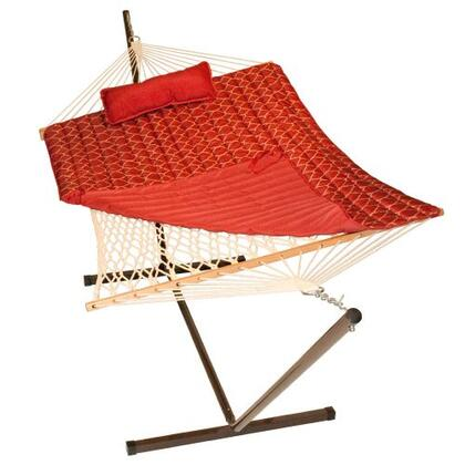 8916PATT 144 inch  Cotton Rope Hammock  Stand  Pad and Pillow Combination in