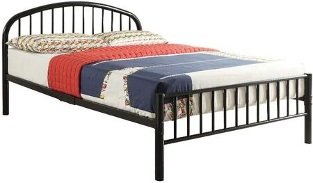 Cailyn Collection 30460TBK Twin Size Bunk Bed with Slat System Included  Curved Headboard  Low Profile Rectangular Footboard and Metal Tube Material in Black