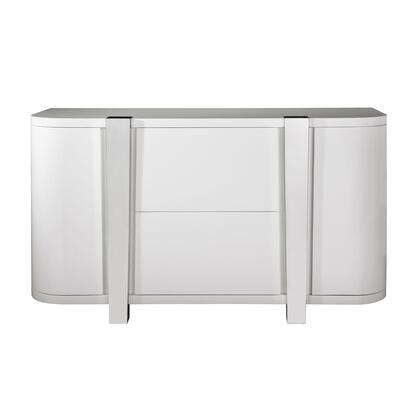 D153115 Modern High Gloss Wine Cloud Grey Console In