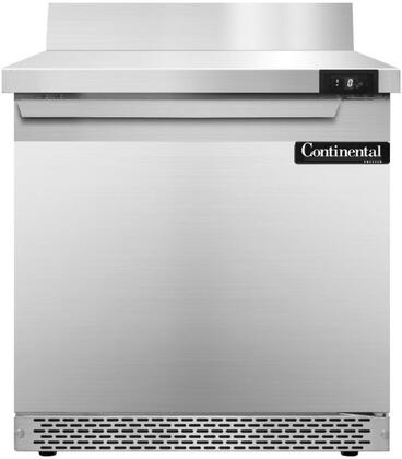 SWF32BSFB 32 inch  Worktop Freezer with Solid Door  6 inch  Backsplash  7.4 Cu. Ft. Capacity  Front Breathing Compressor  Aluminum Interior  Interior Hanging Thermometer