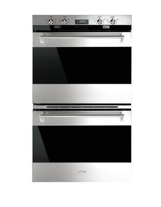 Smeg DOU330X1 30 Classic Electric Multifunction Double Wall Oven with 10 Cooking Modes in Each Oven, Stainless Steel