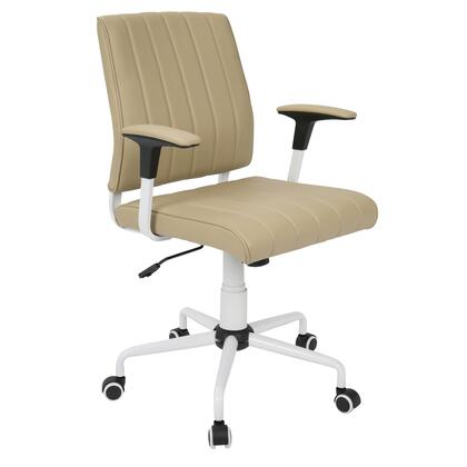 OFC-CACH W+BG Cache Contemporary Office Chair in Cashmere with White