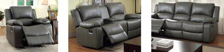 Sarles Collection CM6326-SLR 3-Piece Living Room Set with Motion Sofa  Motion Loveseat and Recliner in