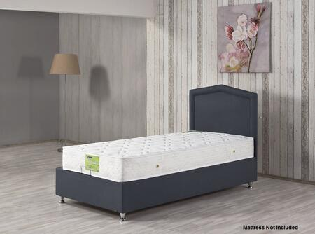 CARESTBETWPG Twin Size Casa Rest Storage Bed with Hydraulic Lift System and Europen-style Mattress Support System in Prusa