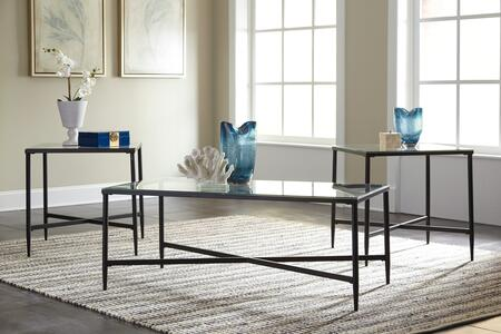 Augeron Collection T003-13 3-Piece Occasional Table Set with Cocktail Table and 2 End Tables in