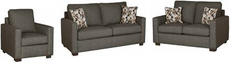 Colson U2022-SLC 3-Piece Living Room Set with Stationary Sofa  Loveseat and Chair in