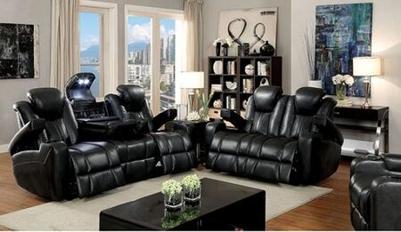Zaurak Collection CM6291-SL 2-Piece Living Room Set with Motion Sofa and Motion Loveseat in Dark 929969