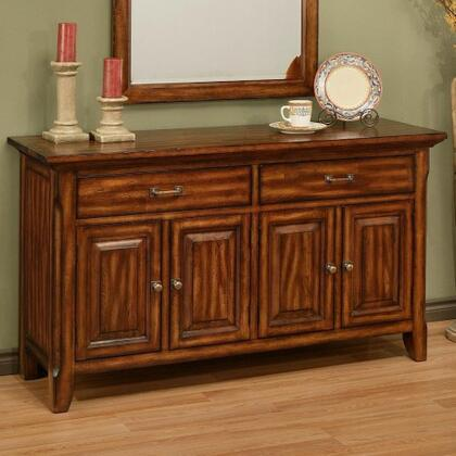 212005 Marissa 4 Door Buffet with 2 Full Extension Drawers  Screwed On Flush Mounted Ply Back Panels in Cumin Spice