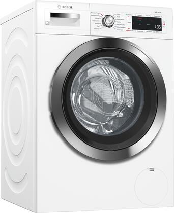 "White Front Load Compact Laundry Pair with WAW285H2UC 24"""" Washer  WTG865H2UC 24"""" Condensation Electric Dryer and 2 WMZ20490 Laundery"" 851995"