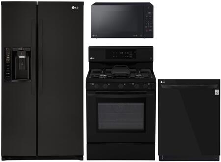 4-Piece Kitchen Appliance Package with LSXS26326B 36
