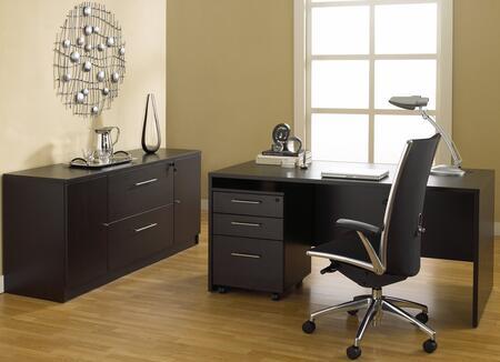 1C100008MES Espresso Executive Office Desk with
