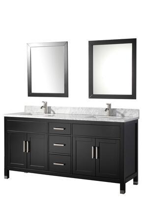 -6284E Ricca 84 Double Sink Bathroom Vanity Set