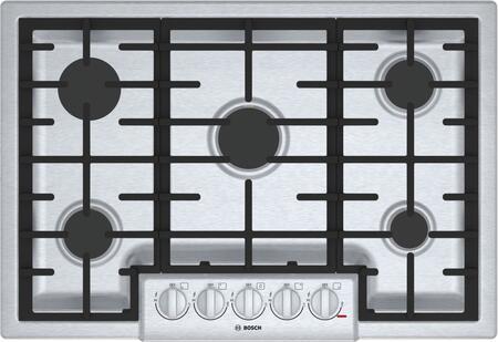 Bosch NGM8056UC 800 Series 30 Stainless Steel 5 Burner Gas Cooktop