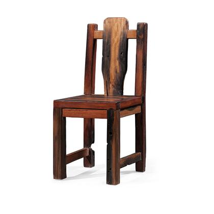 DS-A07 Cybele Dining Chair with Distressed Ornate Details in Brown