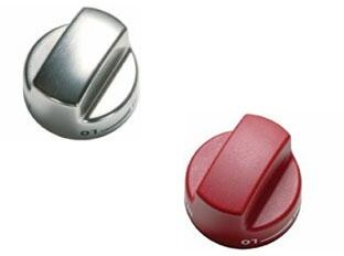 Set of Red Knobs with Additional Set of Stainless Steel