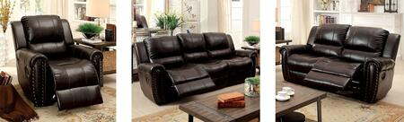 Foxboro Collection CM6909-SLR 3-Piece Living Room Set with Motion Sofa  Motion Loveseat and Recliner in