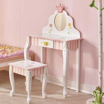 W7455SET Princess & Frog Kids Vanity Table and Stool