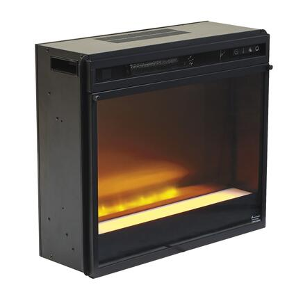 W100-02 Entertainment Accessories Fireplace Insert Glass/Stone with Automatically Shut Off and Timer in