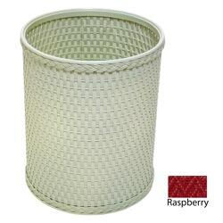 R426RB Chelsea Collection Decorator Color Round Wicker Wastebasket in