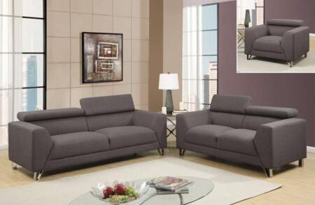 U8210depalmabelugasofalc 3 Piece St Including  Sofa  Loveseat And Chair In Depalma Beluga