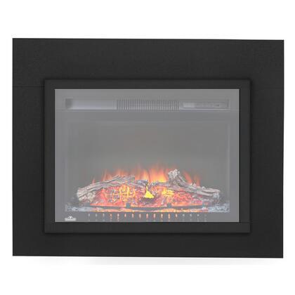 "NEFT24BLK Cinema Series Trim for 24"" Fireplace in Black Powder Coat"