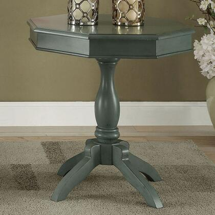 Iliana CM-AC6442TL Octagon Accent Table with Transitional Style  Pedestal Design  Octagon Table Top  Solid Wood/Others in Antique