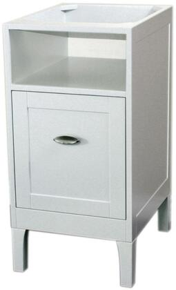 7711-WH-WH 16 inch  Cabinet White with Marble Top in