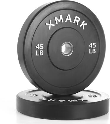 XM-3385-45-P XMark 45 lbs. Bumper Plates with Stainless Steel Inserts