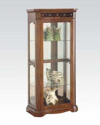 Alden Collection 90060 28 inch  Curio Cabinet with Glass Shelves  Glass Panels in Cherry