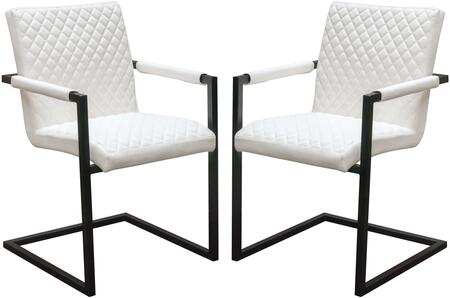 Nolan_Collection_NOLANDCWH2PK_Dining_Chairs_(Set_of_2)_with_Leatherette_Upholstery__Diamond_Tufted_and_Black_Powder_Coated_Frame_in