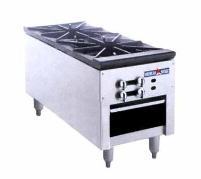 ARSP-18-2 18 inch  Heavy Duty Natural Gas Double Stock Pot Stove with 180 000 Total