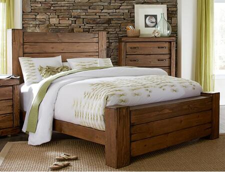 Maverick P626-34-35-78 Queen Sized Panel Bed with Headboard  Footboard and Side Rails in