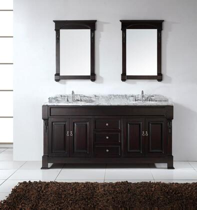 GD-4072-WMRO-DW Transitional 72 Double Sink Bathroom Vanity