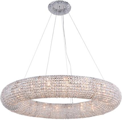 2114G52C/RC 2114 Paris Collection Chandelier D:52In H:7.2In Lt:20 Chrome Finish (Royal Cut