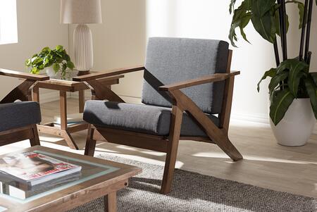 SW5236-GREY/WALNUT-M17-CC Baxton Studio Cayla Mid-Century Modern Grey Fabric and