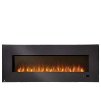 """EFL60H 60"""" Slimline Wall-Mount Electric Fireplace With 5000 BTUs / 1500 Watts Heating Capacity  Linear Glass Front  Glass Ember Bed  Touch Screen Electronic"""