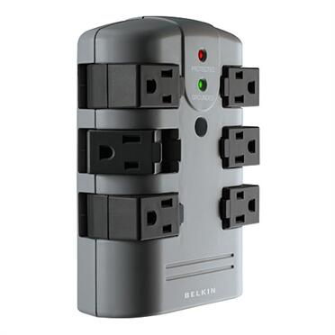 BP106000 Pivot Wall Mount Surge Protector with 6