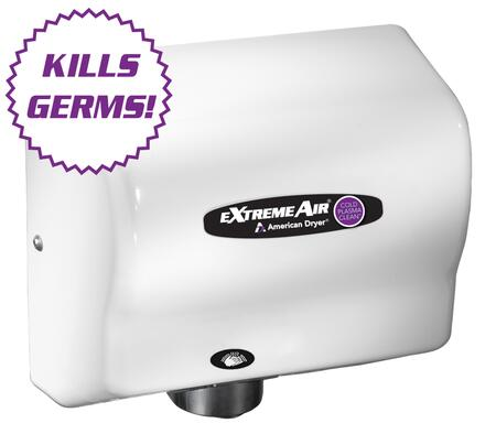 CPC9-M Hand Dryer GERM KILLING with Adjustable Sound & Speed and Universal Voltage In Steel White 654795