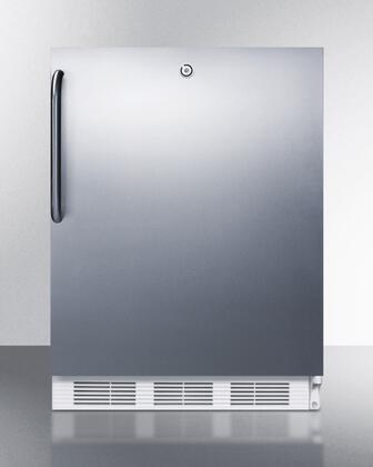 ALB651LCSS 24 inch  ADA Compliant Dual Evaporator Undercounter Refrigerator with 5.1 cu. ft. Capacity  2 Adjustable Wire Shelves  3 Door Bins  Adjustable Thermostat