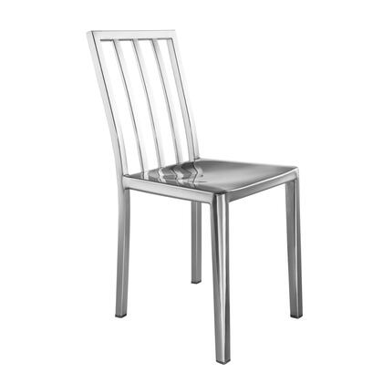 FMI10284-SILVER Eve Steel Dining Side Chair
