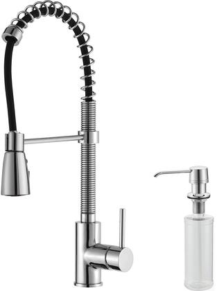 Kpf1612ksd30ch Commercial-style Series Pull Down Kitchen Faucet With Solid Brass Construction  Easy-clean Rubber Nozzles  Kerox Ceramic Cartridge  And Included