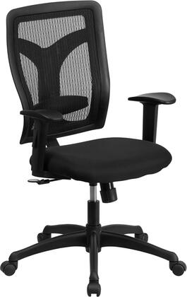 WL-F062SYG-MF-A-GG Galaxy High Back Designer Back Task Chair with Adjustable Height Arms and Padded Fabric