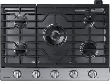 "NA30K6550TS 30"" Gas Cooktop with 5 Sealed Burners  Illuminated Knobs  Aluminum Griddle and Wifi  in Stainless"