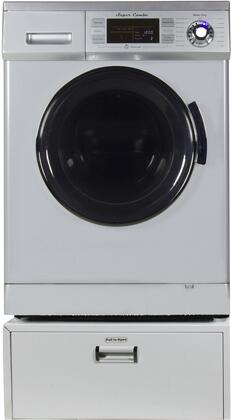 Equator 1.6 Cu. Ft. 7-Cycle Washer and 3-Cycle Dryer Electric Combo Silver EZ 4400CV S + PDL